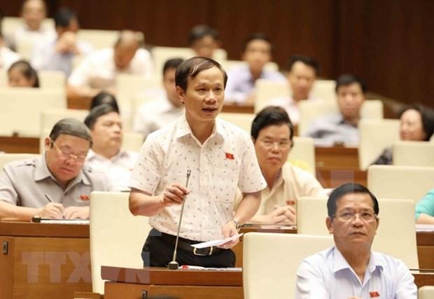 Diputados vietnamitas elogian interpelaciones de ministros en quinto periodo de sesiones del Parlamento hinh anh 1