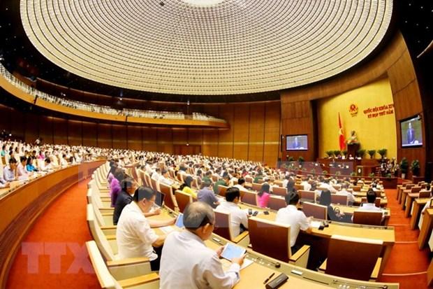 Parlamento de Vietnam analiza borradores de leyes de Policia Popular y Ganaderia hinh anh 1
