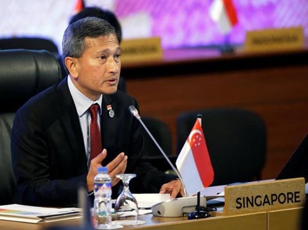 Canciller de Singapur visita Corea del Norte en visperas de la cumbre Trump-Kim hinh anh 1