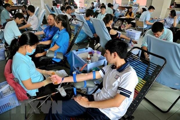 Reconocen en Vietnam a donantes voluntarios de sangre hinh anh 1