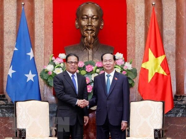 Presidente de Vietnam aboga por consolidar asociacion con Micronesia hinh anh 1