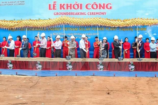 Inician construccion de mayor planta fotovoltaica de Vietnam hinh anh 1