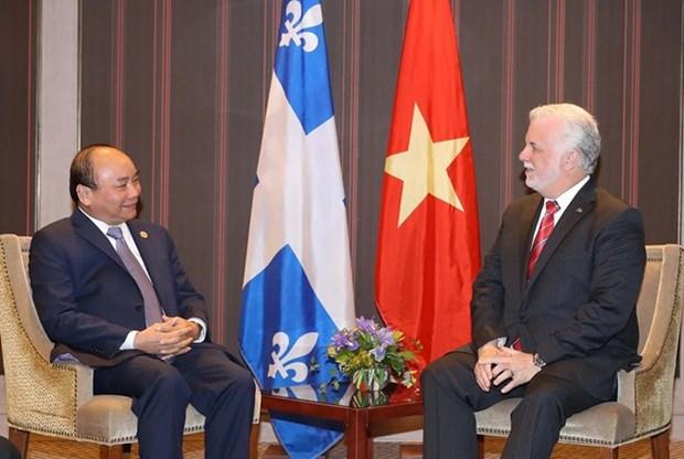 Premier de Vietnam aboga por desarrollo de lazos con Quebec hinh anh 1