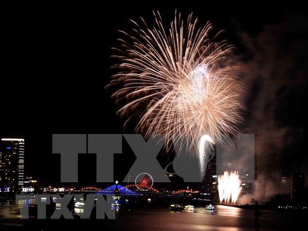 Festival internacional de fuegos artificiales en Da Nang seduce a espectadores hinh anh 1