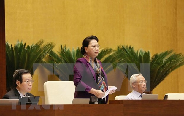 Maxima legisladora de Vietnam llama al pueblo a tener confianza en decision del Partido y Estado hinh anh 1