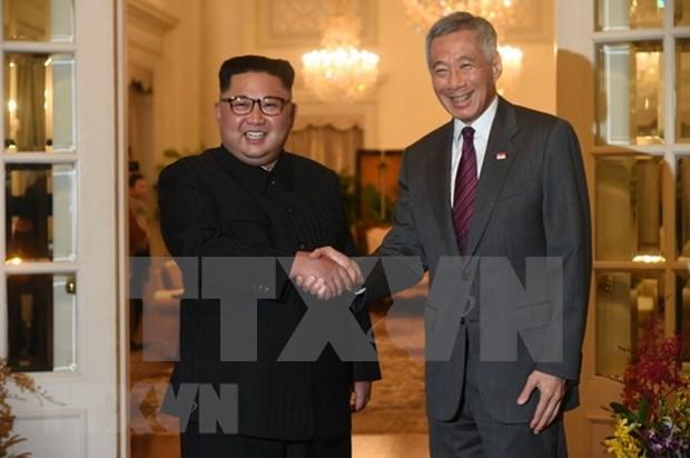 Lee Hsien Loong y Kim Jong-un revisan relaciones bilaterales y otros temas de interes comun hinh anh 1