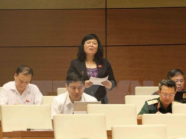 Parlamento de Vietnam discute el borrador de Ley de Amnistia (modificada) hinh anh 1