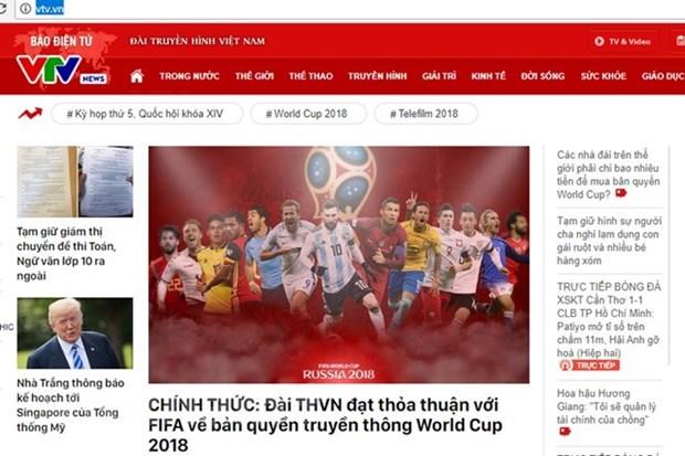 Amantes vietnamitas de futbol disfrutaran Copa Mundial por television, internet y telefonos moviles hinh anh 1