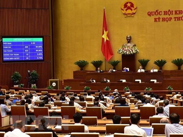 Parlamento de Vietnam adopta dos resoluciones y tres proyectos de ley hinh anh 1