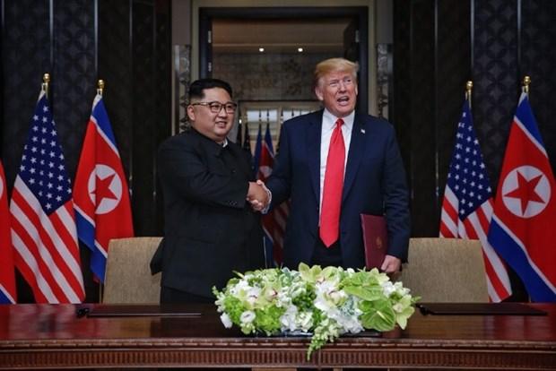 Concluye historico encuentro entre Donald Trump y Kim Jong-un hinh anh 1