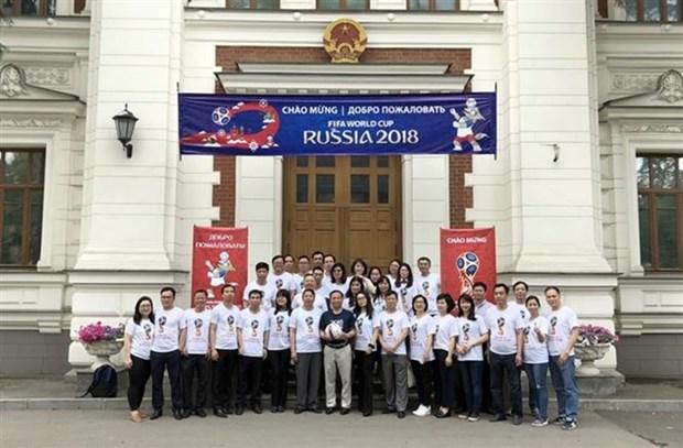 Embajada de Vietnam apoya celebracion en Rusia de Copa Mundial de Futbol hinh anh 1