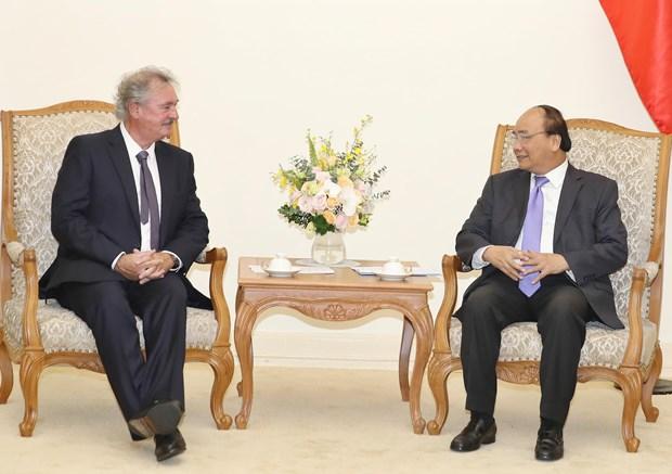 Premier de Vietnam saluda acuerdo marco de cooperacion intergubernamental con Luxemburgo hinh anh 1