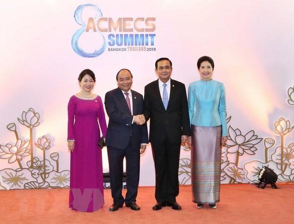 Vietnam y Tailandia estrechan lazos al margen de ACMECS 8 hinh anh 1