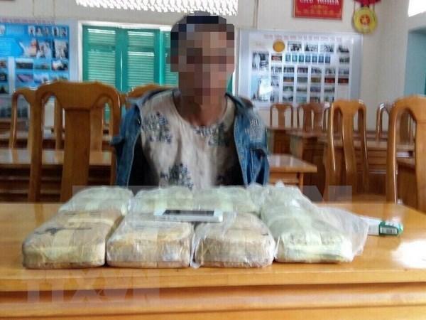 Decomisan gran cantidad de drogas en frontera entre Vietnam y Laos hinh anh 1