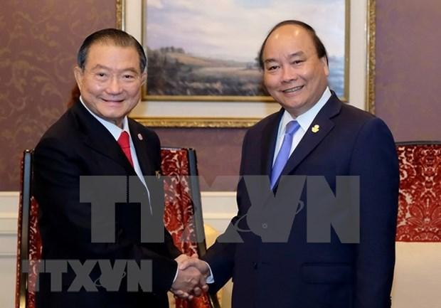 Premier de Vietnam recibe al presidente del grupo tailandes ThaiBev hinh anh 1