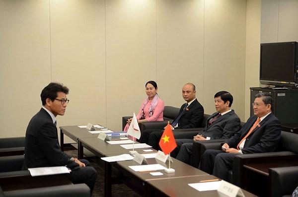 Parlamentos de Vietnam y Japon estrechan vinculos hinh anh 1
