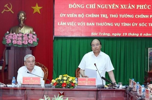 Premier vietnamita propone orientaciones de desarrollo para Soc Trang ante desafios hinh anh 1