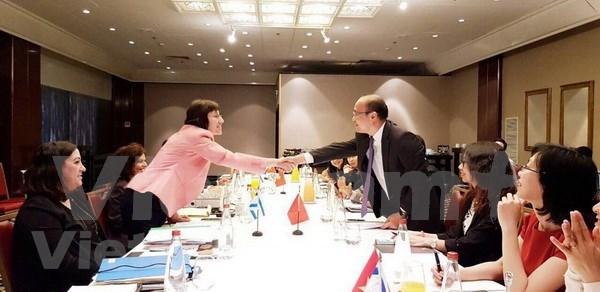 Vietnam e Israel realizan quinta sesion de negociacion sobre el TLC hinh anh 1