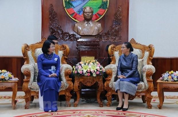 Amplias actividades de la vicepresidenta de Vietnam en Laos hinh anh 1