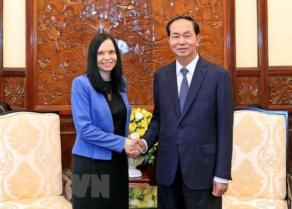 Presidente de Vietnam propone ampliar lazos con Polonia en sectores potenciales hinh anh 1