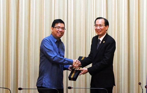 Filipinas por fomentar cooperacion comercial con Ciudad Ho Chi Minh hinh anh 1