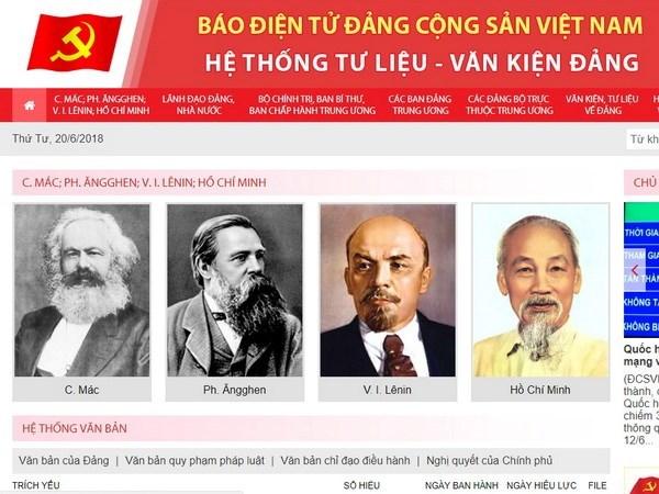 Revista electronica del Partido Comunista de Vietnam lanza nuevo sitio web hinh anh 1