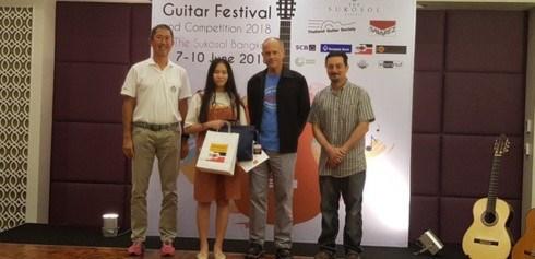 Joven vietnamita gana primer premio en Competencia internacional de Guitarra Asiatica en Bangkok hinh anh 1