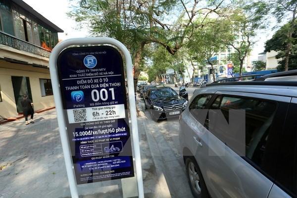 Hanoi extiende uso de estacionamientos inteligentes hinh anh 1