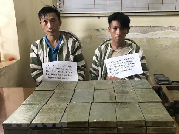 Arrestan sospechosos de trafico de 36 ladrillos de heroina en provincia fronteriza hinh anh 1
