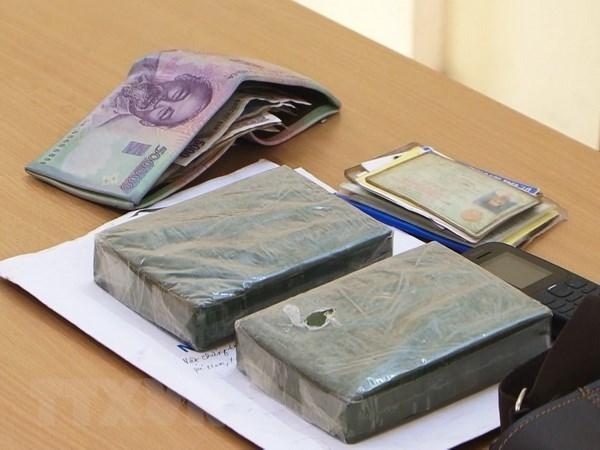 Guardia fronteriza de Vietnam detiene a contrabandista de heroina hinh anh 1