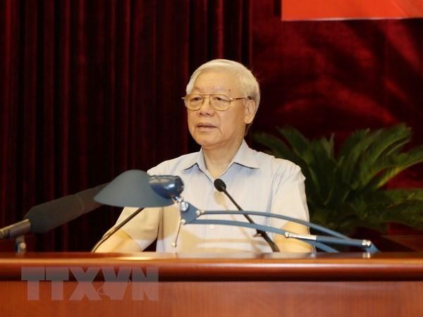 Maximo dirigente politico de Vietnam revisa lucha contra la corrupcion hinh anh 1