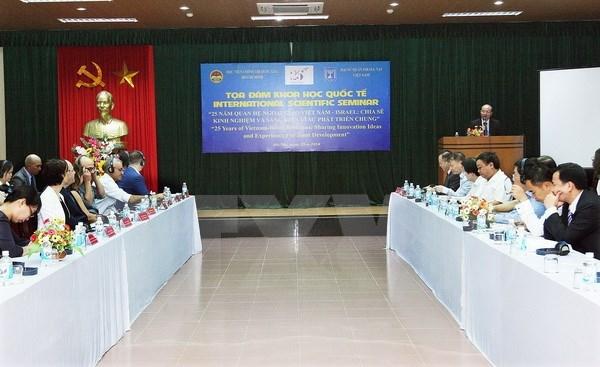 Coloquio sobre emprendimiento marca aniversario de nexos diplomaticos Vietnam- Israel hinh anh 1