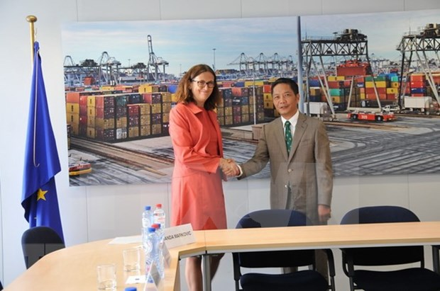 Vietnam y la Union Europea concluyen revision legal del TLC bilateral hinh anh 1