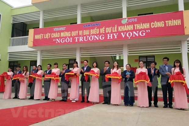 Inauguran escuela en Thai Nguyen con financiamiento sudcoreano hinh anh 1