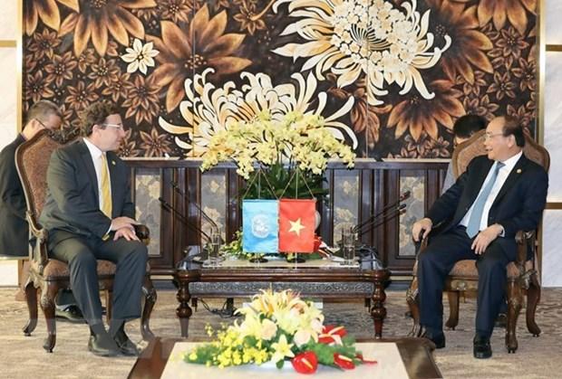Premier vietnamita elogia apoyo del PNUD a su pais hinh anh 1