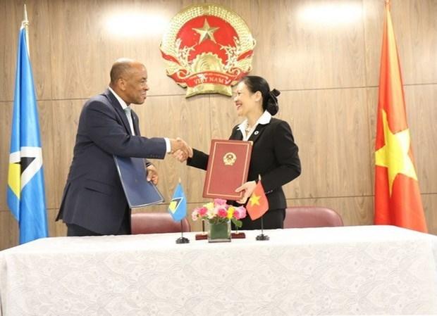 Vietnam y Santa Lucia establecen relaciones diplomaticas hinh anh 1