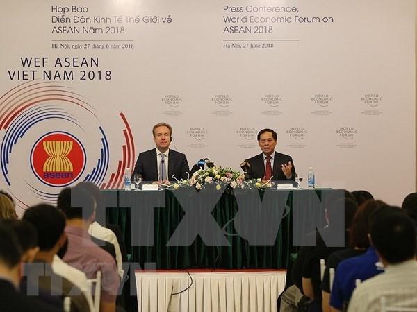 Hanoi acogera conferencia de Foro Economico Mundial sobre ASEAN en septiembre hinh anh 1