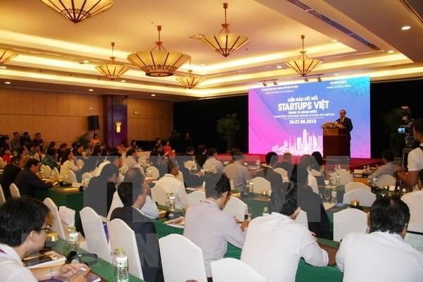 Empresas de start-up dentro y fuera de Vietnam buscan estrechar vinculos hinh anh 1