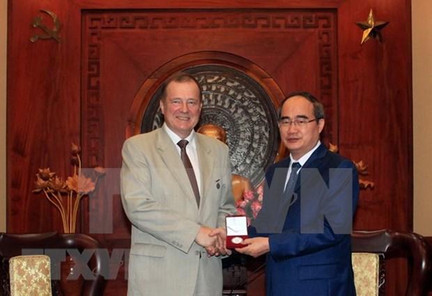 Ciudad Ho Chi Minh y San Petersburgo impulsan cooperacion bilateral hinh anh 1