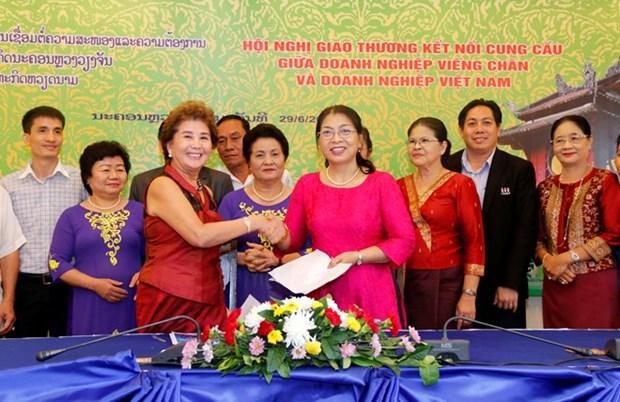Efectuan conferencia de cooperacion entre empresas vietnamitas y laosianas hinh anh 1
