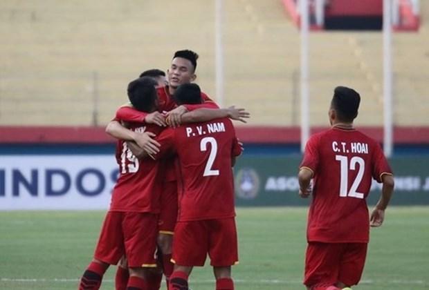 Seleccion de futbol sub 19 de Vietnam derrota 5-0 a Filipinas hinh anh 1