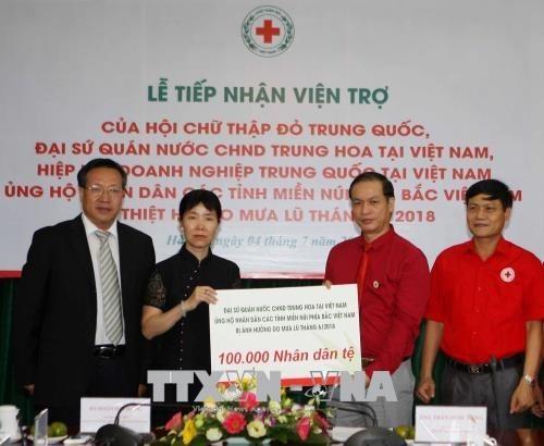 Cruz Roja de Vietnam recibe donaciones para poblaciones afectadas por inundaciones hinh anh 1