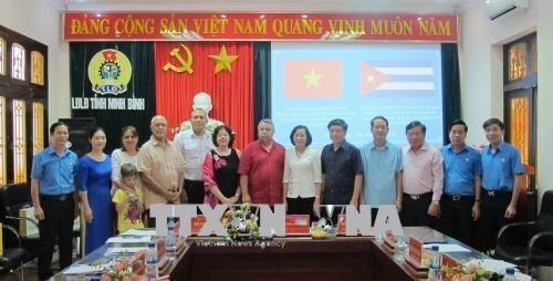 Dirigente de organizacion sindical de Cuba visita provincia vietnamita hinh anh 1