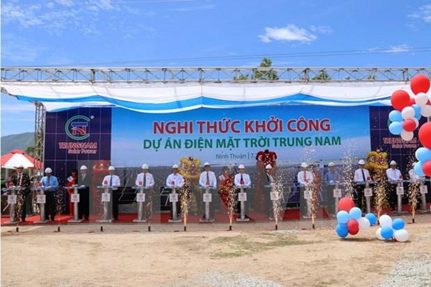 Construyen planta de energia solar en provincia centrovietnamita hinh anh 1