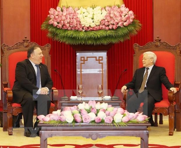 Estados Unidos desea fortalecer asociacion integral con Vietnam, afirma Mike Pompeo hinh anh 1