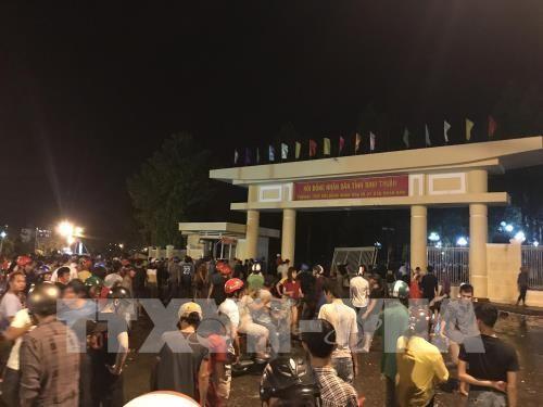 Policia de Vietnam realiza investigacion a provocadores de desorden social hinh anh 1