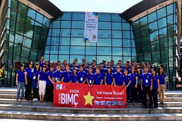 Mas de 40 premios obtienen estudiantes vietnamitas en concurso internacional de matematica hinh anh 1