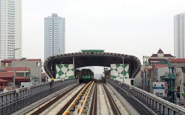 Ferrocarril Cat Linh-Ha Dong conectado a la red electrica nacional para operacion experimental hinh anh 1