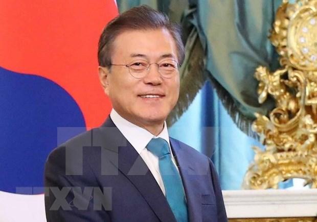 Presidente de Corea del Sur emprende visita a Singapur hinh anh 1