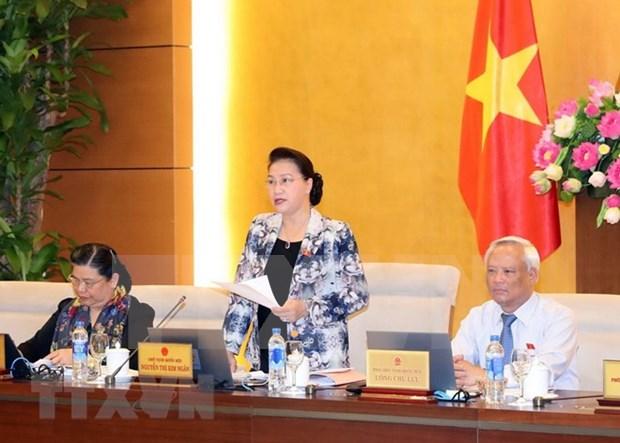 Comite Permanente del Parlamento vietnamita analiza tres proyectos de leyes hinh anh 1